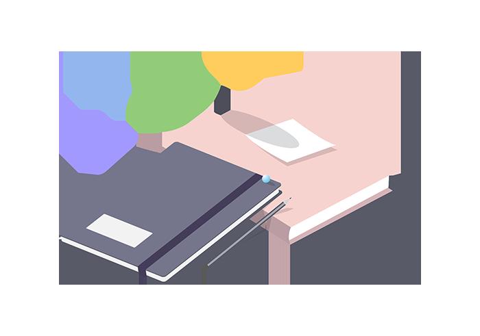 Tekstforfatter- notesbog